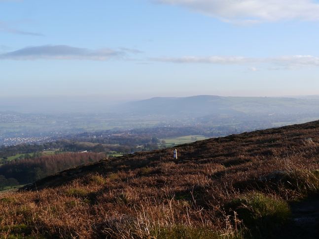 Looking east towards Otley Chevin