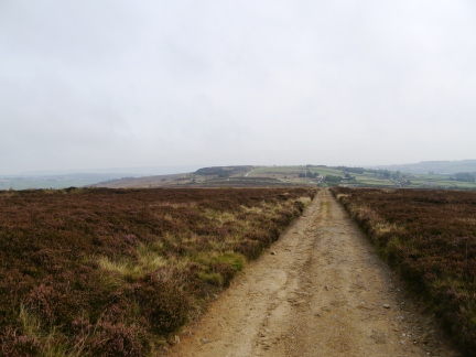 Looking back towards Penistone Hill