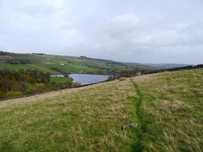 The path leading back down to Ponden Reservoir