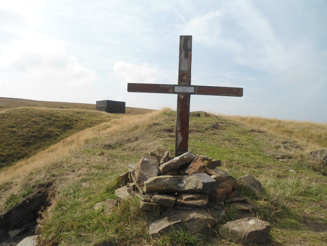 The memorial cross to The Duke of Wellington's Regiment who fought in the Second World War
