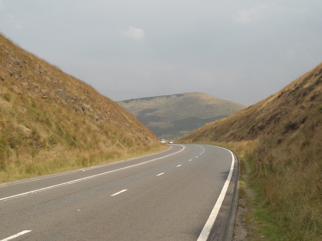 Approaching Pule Hill along the A62
