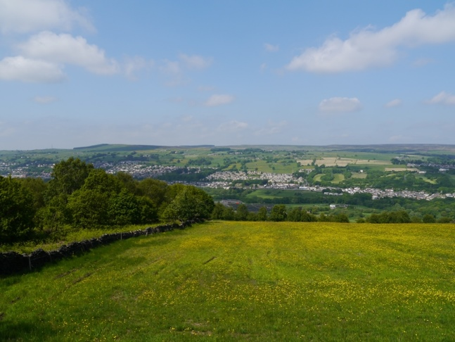 Looking across the Aire valley to Riddlesden