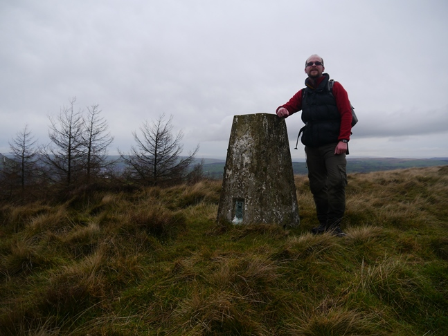 By the trig point on Rivock Edge