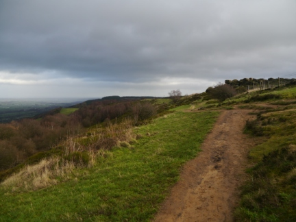 The path we followed to the top of The Chevin