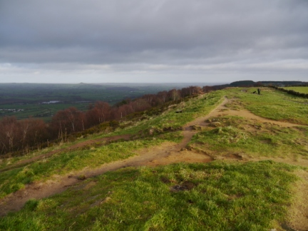 Looking along the crest of The Chevin
