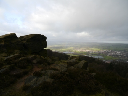 The rocks on the top of The Chevin