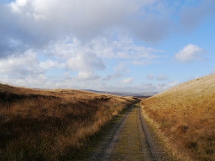 The track leading to the top of Cote Clough