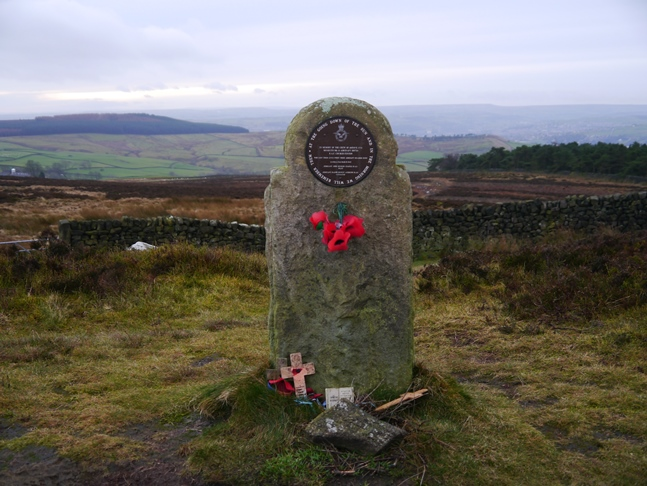 The memorial at Windgate Nick