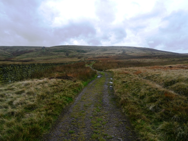 Looking back along the Pennine Way towards Withins Height