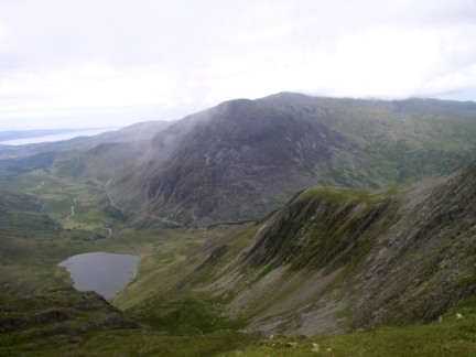 Llyn Idwal and the Gribin ridge