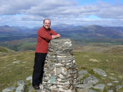 On the top of Moel Ysgyfarnogod in the North Rhinogydd