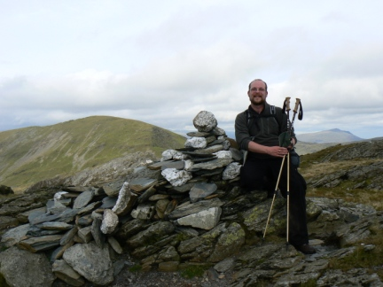 On the summit of Moelwyn Bach