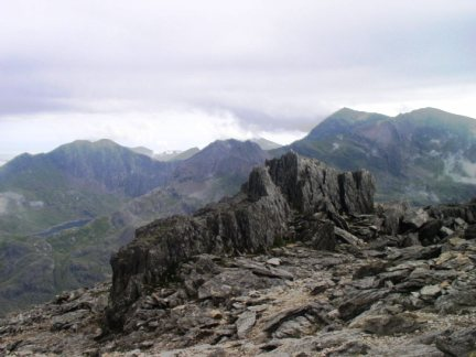 Snowdon from the top of Glyder Fawr