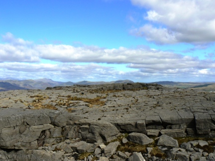 The rocky summit of Foel Penolau