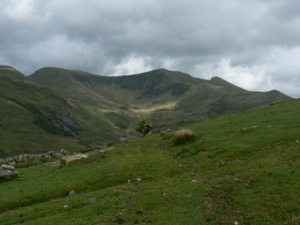 Trum y Ddysgl and the north Nantlle ridge