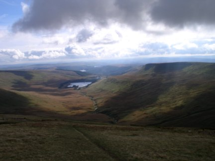 Upper Neuadd Reservoir from Pen y Fan