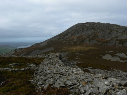Looking up at Yr Eifl with the ramparts of Tre'r Ceiri in the foreground