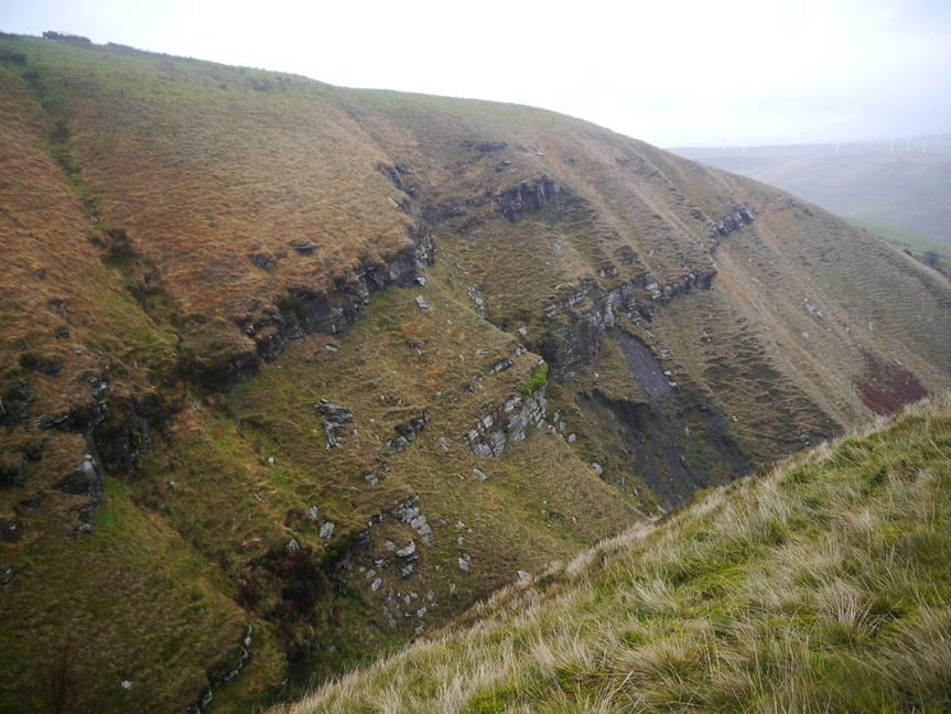 In places the steep-sided Beater Clough looked like it could have been in the Yorkshire Dales