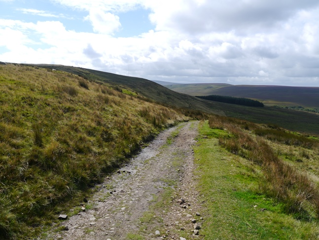 The track descending the flanks of Cartridge Hill