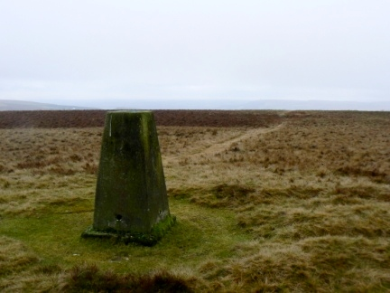 The trig point on Cowpe Lowe