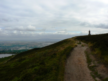 Approaching the top of Darwen Hill