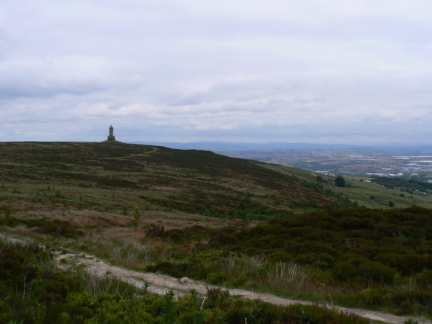 Looking back at Darwen Hill from Darwen Moor