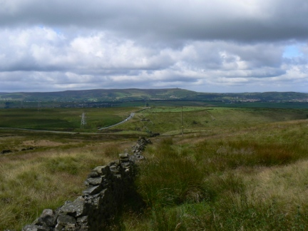 Looking west towards Darwen Moor from Rushy Hill