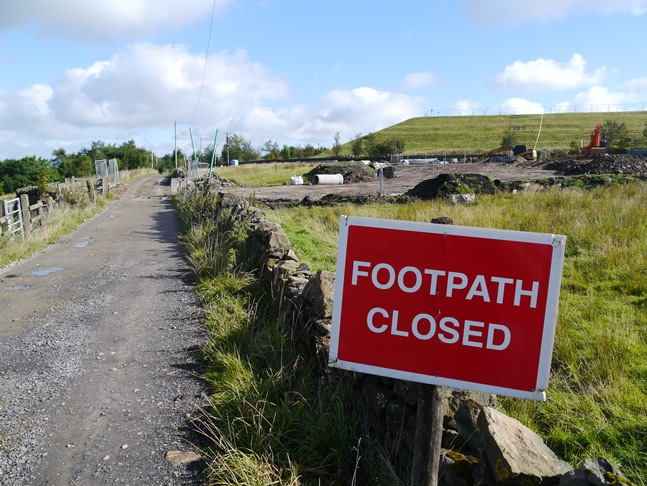 I was diverted from my originally planned route by a footpath closure