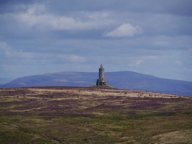 My telephoto lens made Pendle Hill look huge behind the Jubilee Tower
