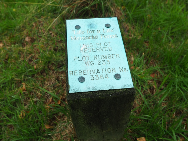 A reserved plot in the Memorial Forest