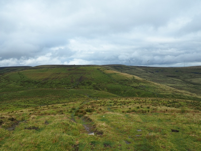Looking ahead to Middle Hill and Rough Hill