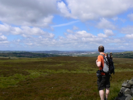 On Grey Stone Hill looking towards Blackburn
