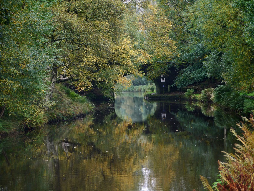 Autumnal reflections on the Rochdale Canal
