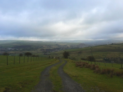 Looking down into Rossendale from the Pennine Bridleway