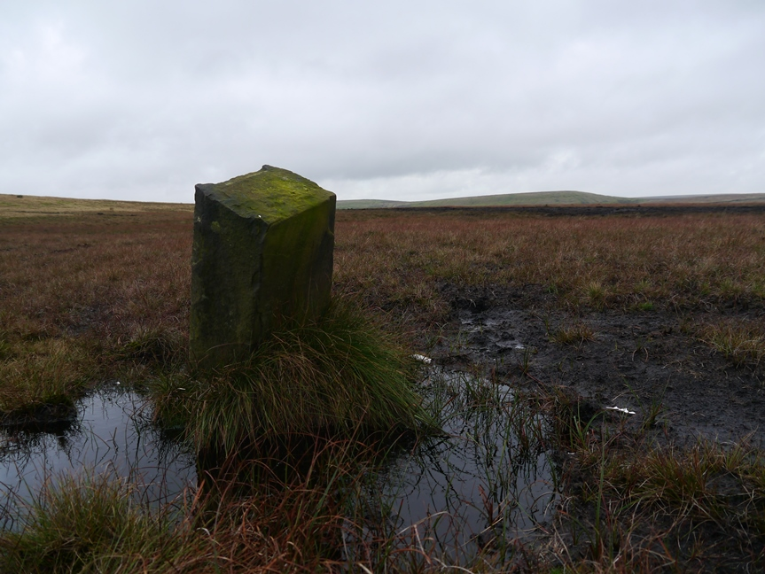 Boundary stone on Stubley Cross Hill