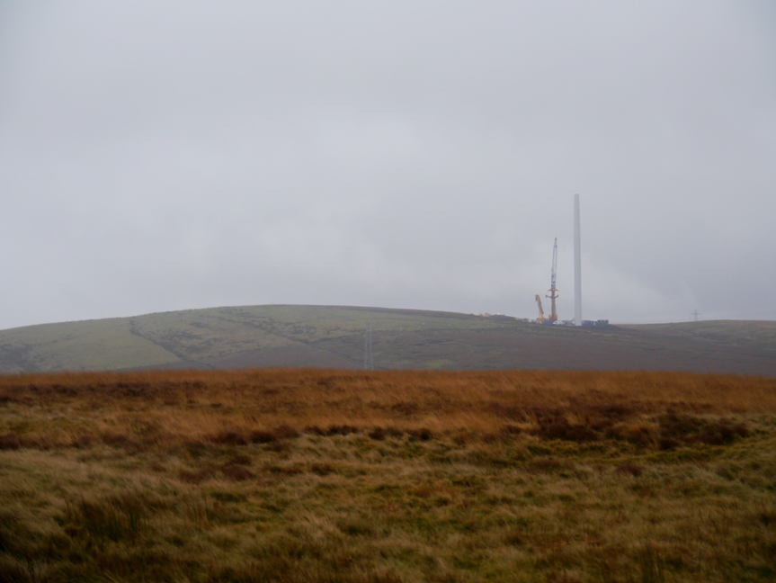 The start of the new windfarm on Todmorden Moor
