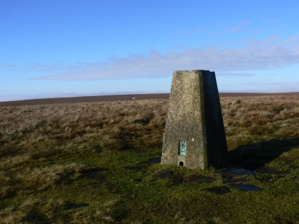 The trig point on Bull Hill