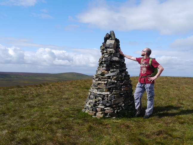The shapely cairn on Cartridge Hill