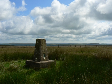 The trig point on Rushy Hill