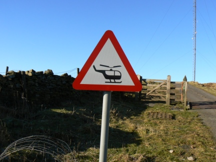 The first time I've ever seen this sign while out on the moors