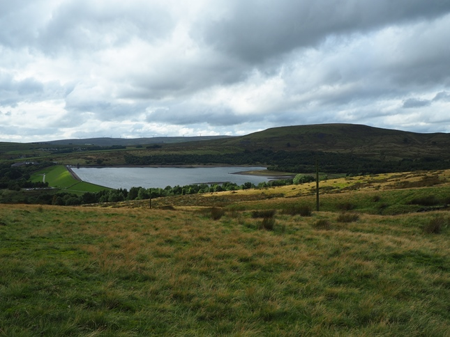 Watergrove Reservoir and Brown Wardle Hill from Dobbin Hill