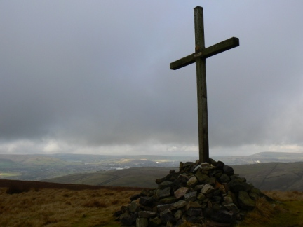 The memorial cross on Whittle Hill