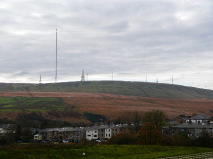 Winter Hill towering above Belmont